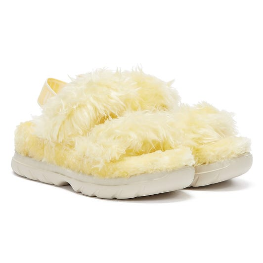 UGG Fluff Sugar Womens Yellow Slippers