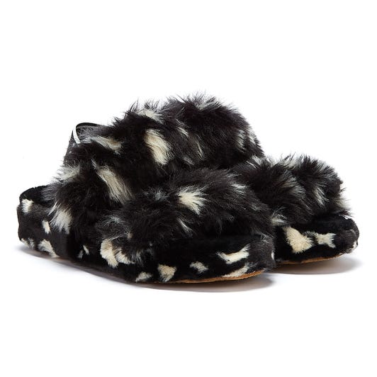 UGG Oh Yeah Spots Womens Black Slippers