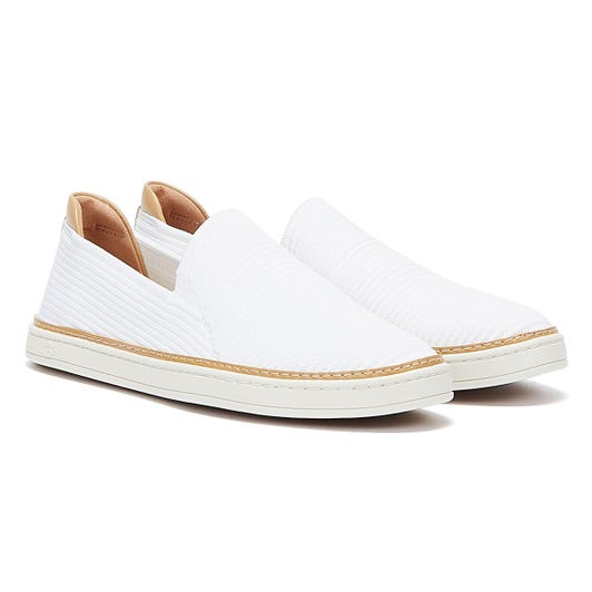 UGG Sammy Rib Knit Womens White Trainers