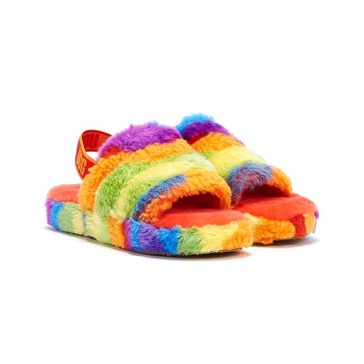 UGG Fluff Yeah Cali Collage Pride Kids Multi Slippers