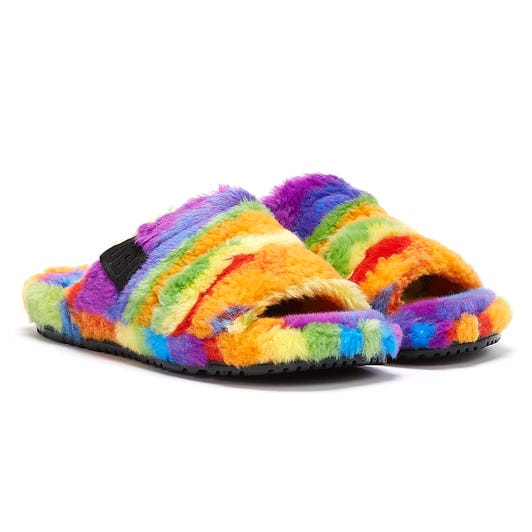 UGG Fluff You Cali Collage Pride Mens Multi Slippers