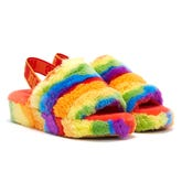 UGG Fluff Yeah Cali Collage Pride Womens Multi Slippers