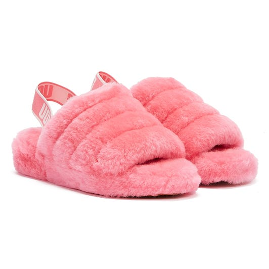 UGG Fluff Yeah Womens Pink Rose Slippers