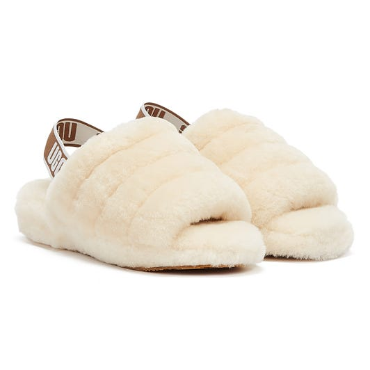 UGG Fluff Yeah Womens Natural Slippers