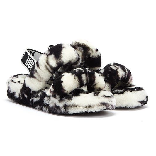 UGG Oh Yeah Marble Womens Black / White Slippers