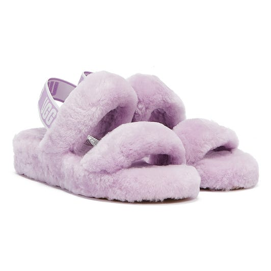 UGG Oh Yeah Womens Lilac Slippers