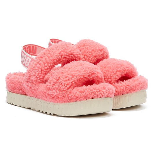 UGG Oh Fluffita Womens Pink Rose Slippers