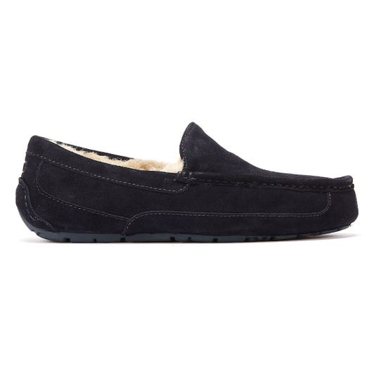 UGG Ascot Suede Mens Navy Slippers