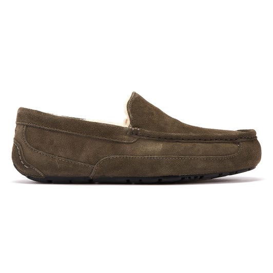 UGG Ascot Suede Mens Grey Slippers