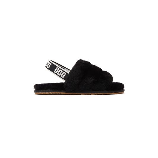 UGG Fluff Yeah Toddlers Black Sandals