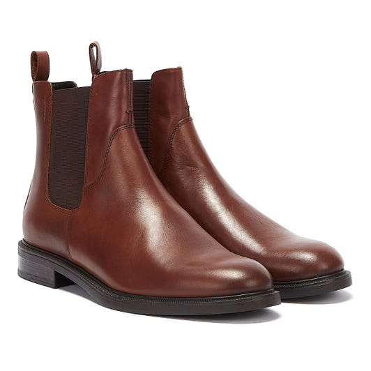 Vagabond Amina Leather Womens Brown Boots