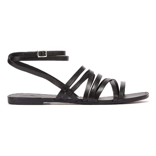 Vagabond Tia Multi Strap Womens Black Sandals