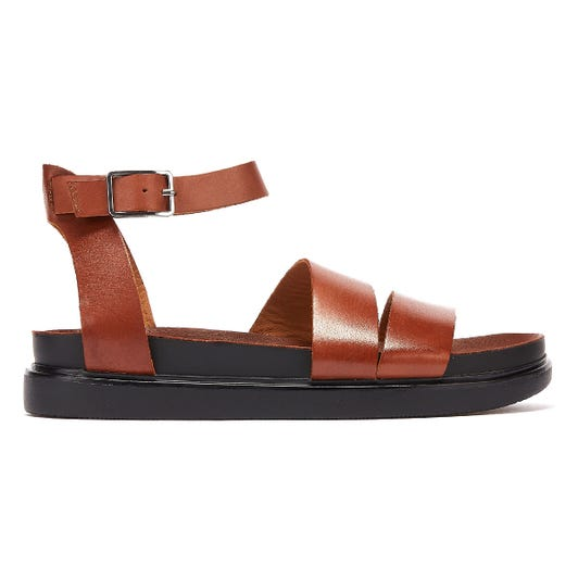 Vagabond Erin Ankle Strap Womens Brown Sandals