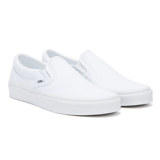 Vans Classic Slip on True White Canvas Trainers