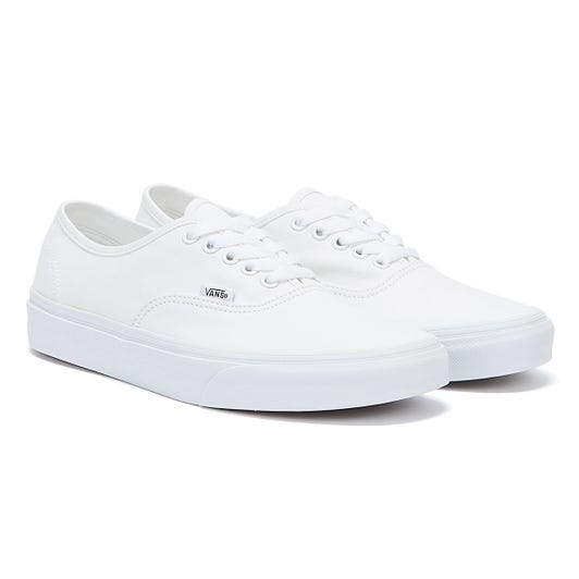Vans White Canvas Authentic Trainers