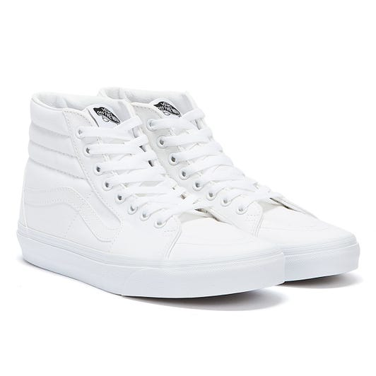 Vans White SK8-Hi Canvas Trainers