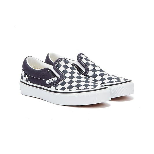 Vans Classic Slip-On Checkerboard Youth Black / White Trainers