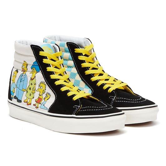 Vans x The Simpsons Sk8-Hi 1987-2020 Black / White Trainers