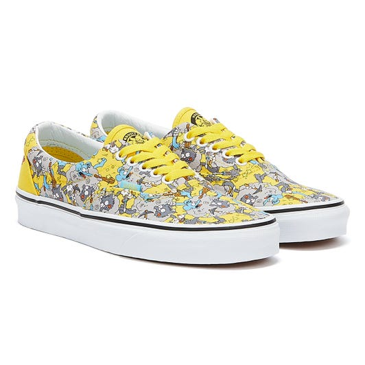 Vans x The Simpsons Era Itchy & Scratchy Yellow Trainers