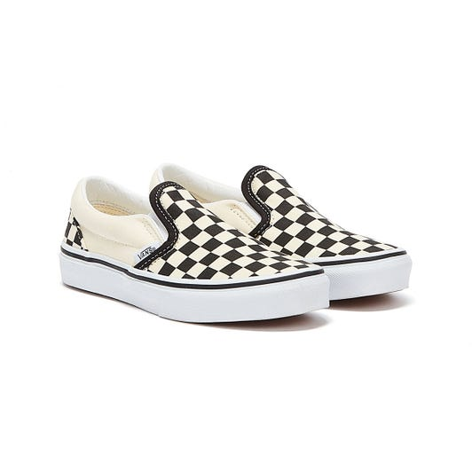 Vans Classic Slip-On Checkerboard Youth Off White / Black Trainers (