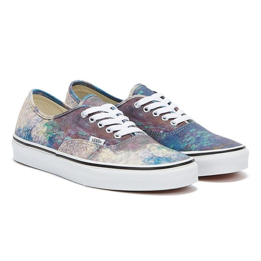 Vans x MoMA Monet Authentic Blue / Pink Trainers