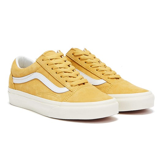 Vans Old Skool Pig Suede Womens Gold / White Trainers