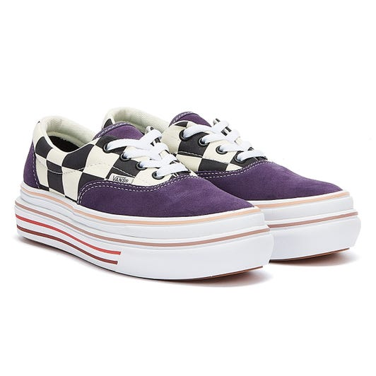 Vans Era Super Comfycush Check Womens Purple / White Trainers