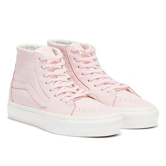 Vans Sk8-Hi Tapered Soft Leather Womens Pink / White Trainers