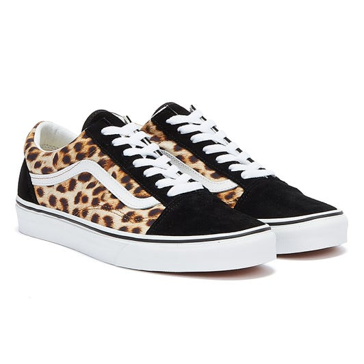 Vans Old Skool Leopard Womens Black / White Trainers