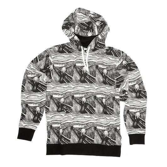 Vans x MoMA Munch Mens Black / White Hoodie