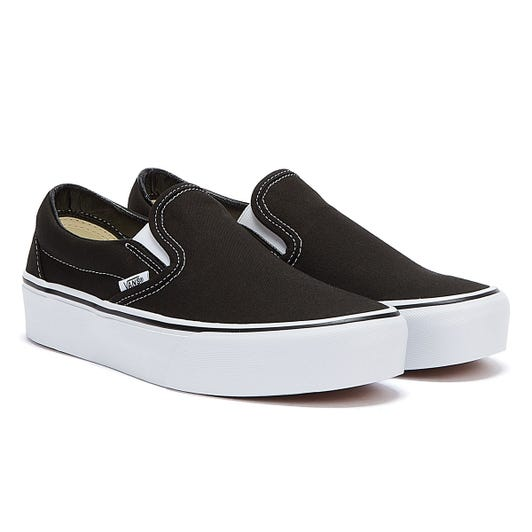 Vans Classic Slip-On Womens Black / White Trainers