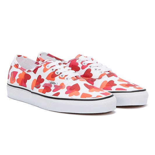 Vans Authentic Valentines Heart Womens Pink / White Trainers