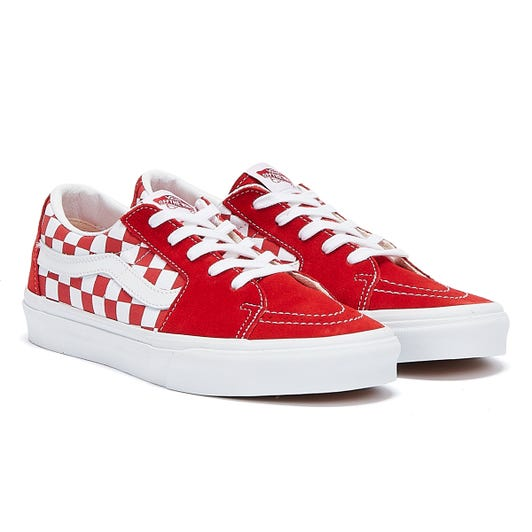 Vans Sk8-Lo Checkerboard Mens Red / White Trainers