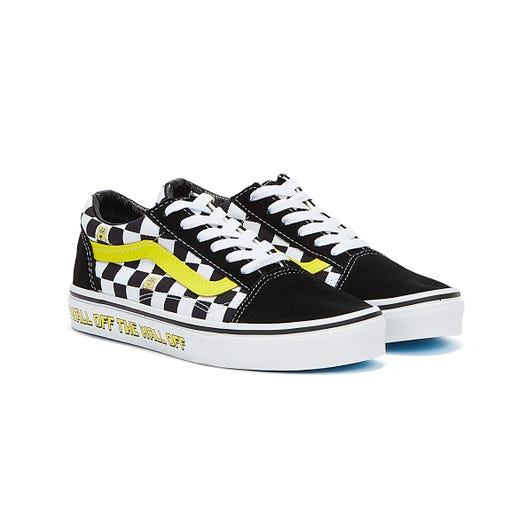Vans x Spongebob Off The Wall Old Skool Youth Black / White / Yellow  Trainers