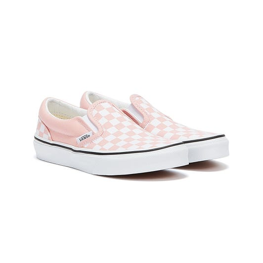 Vans Check Classic Slip On Youth Light Pink Trainers
