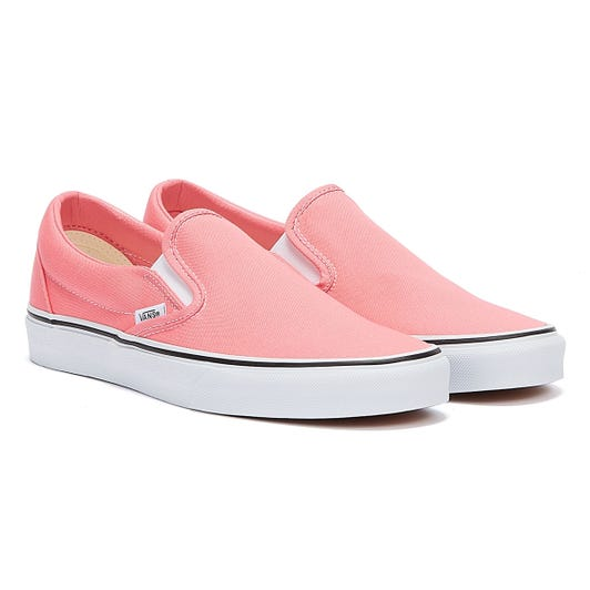 Vans Classic Slip On Womens Pink / White Trainers