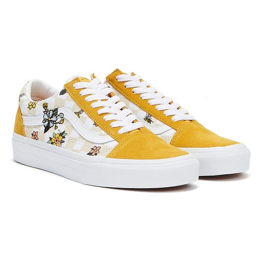 Vans Cottage Check Old Skool Womens Yellow / Black / White Trainers