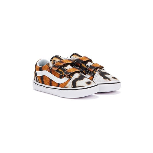 Vans ComfyCush Old Skool V Project Cat Toddlers Tiger Trainers