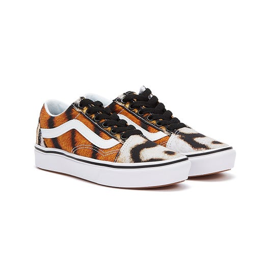 Vans ComfyCush Old Skool Project Cat Youth Orange Trainers