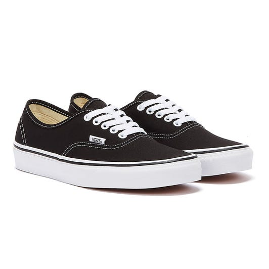 Vans Authentic Black / White Canvas Trainers