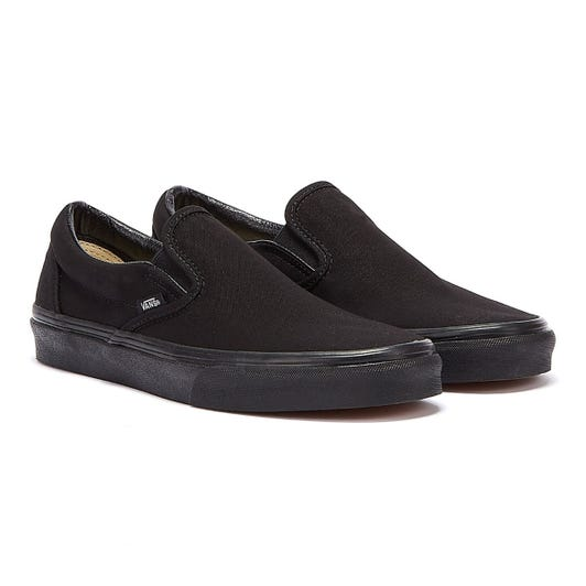 Vans Classic Slip on Black Canvas Skate Trainers