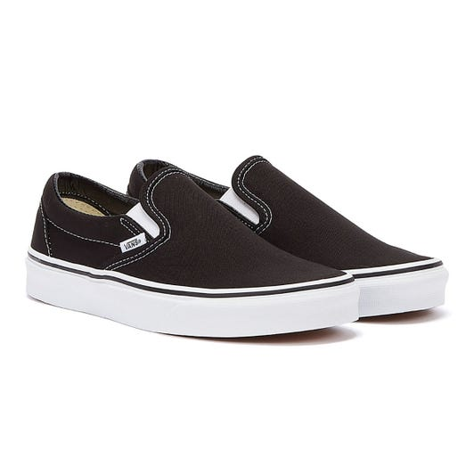 Vans Classic Slip on Black Canvas Trainers