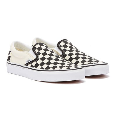 Vans Classic Slip-On Black and White Checkerboard Canvas Trainers