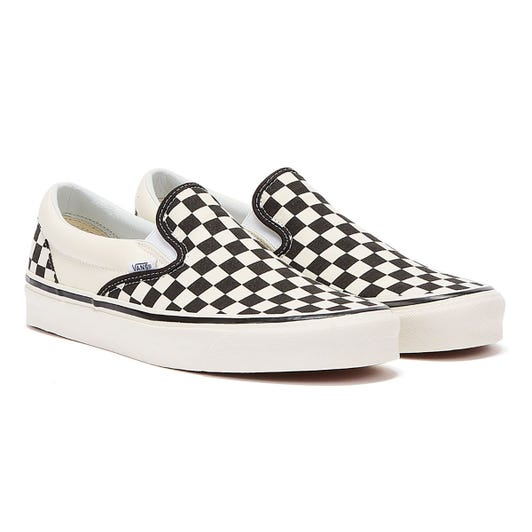 Vans Anaheim Factory Slip-On 98 DX Black Checkerboard Trainers