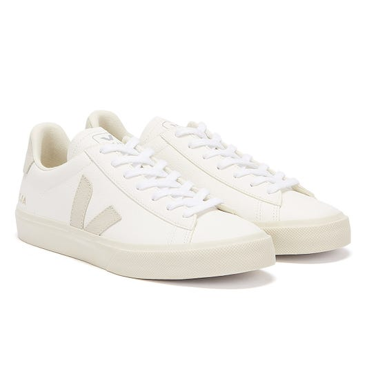 Veja Campo Mens White / Grey Trainers