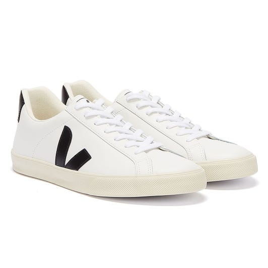 Veja Esplar Leather Womens Extra White / Black Trainers