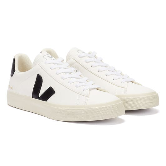 Veja Campo Womens White / Black Trainers
