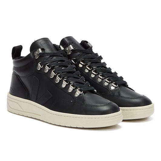 Veja Roraima Leather Black / White Trainers
