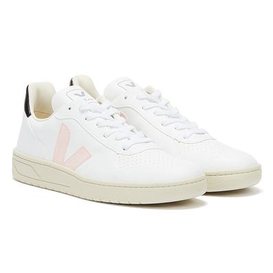 Veja V-10 Vegan Womens White / Petale / Black Trainers