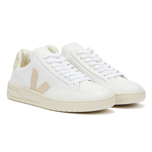 Veja V-12 Womens Extra White / Sable Trainers